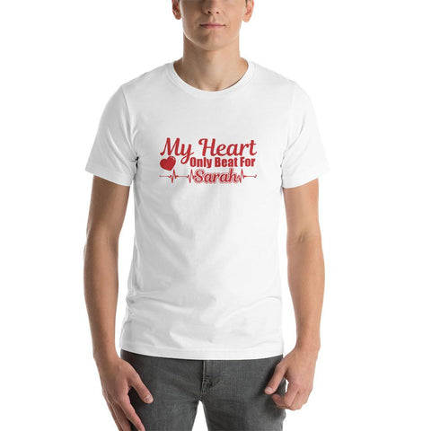 My Heart Only Beads for Sarah Funny Love Couple Unisex T-Shirt - LoveLuve