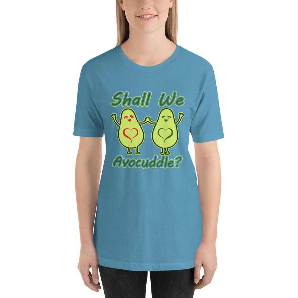 Shall we Avocuddle Short-Sleeve Unisex Funny T-Shirt - LoveLuve