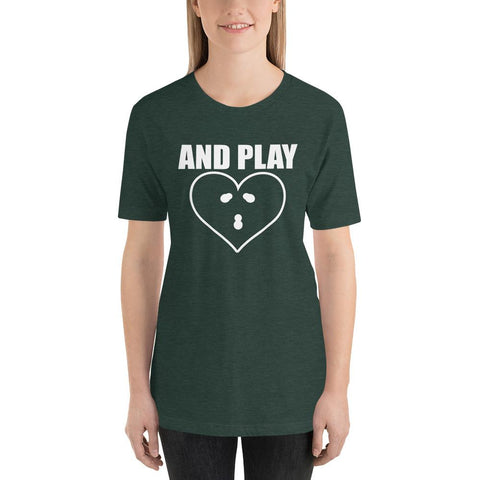 Image of And PLAY Couples Matching Short-Sleeve Unisex Funny T-Shirt - LoveLuve