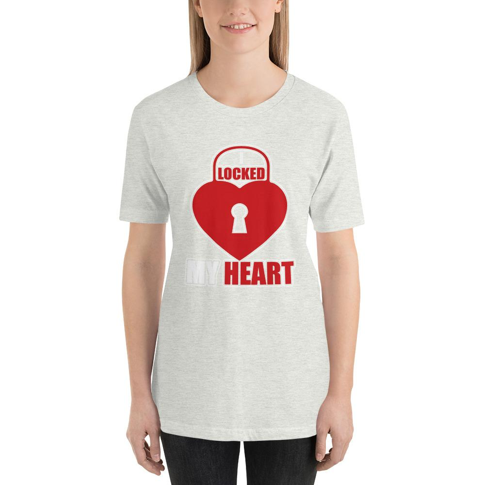 I Locked My Heart Funny Short-Sleeve T-Shirt - LoveLuve