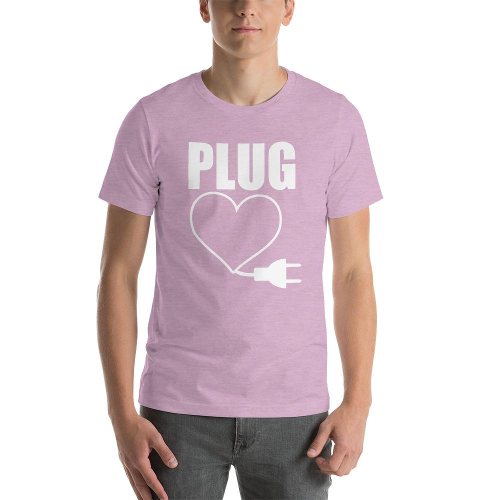 PLUG Couples Matching Short-Sleeve Unisex Funny T-Shirt - LoveLuve