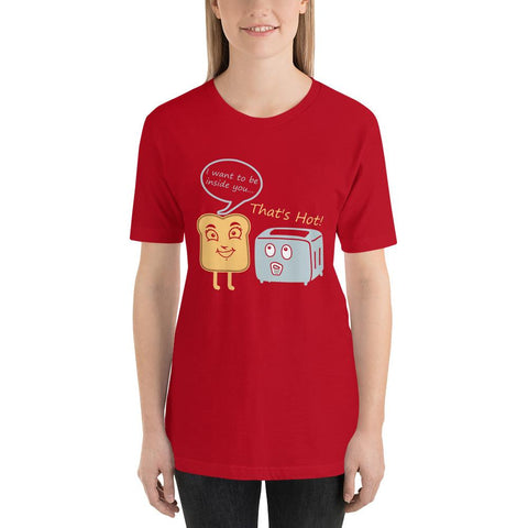 Image of Toast Toasty Short-Sleeve Unisex Funny T-Shirt For Her - LoveLuve