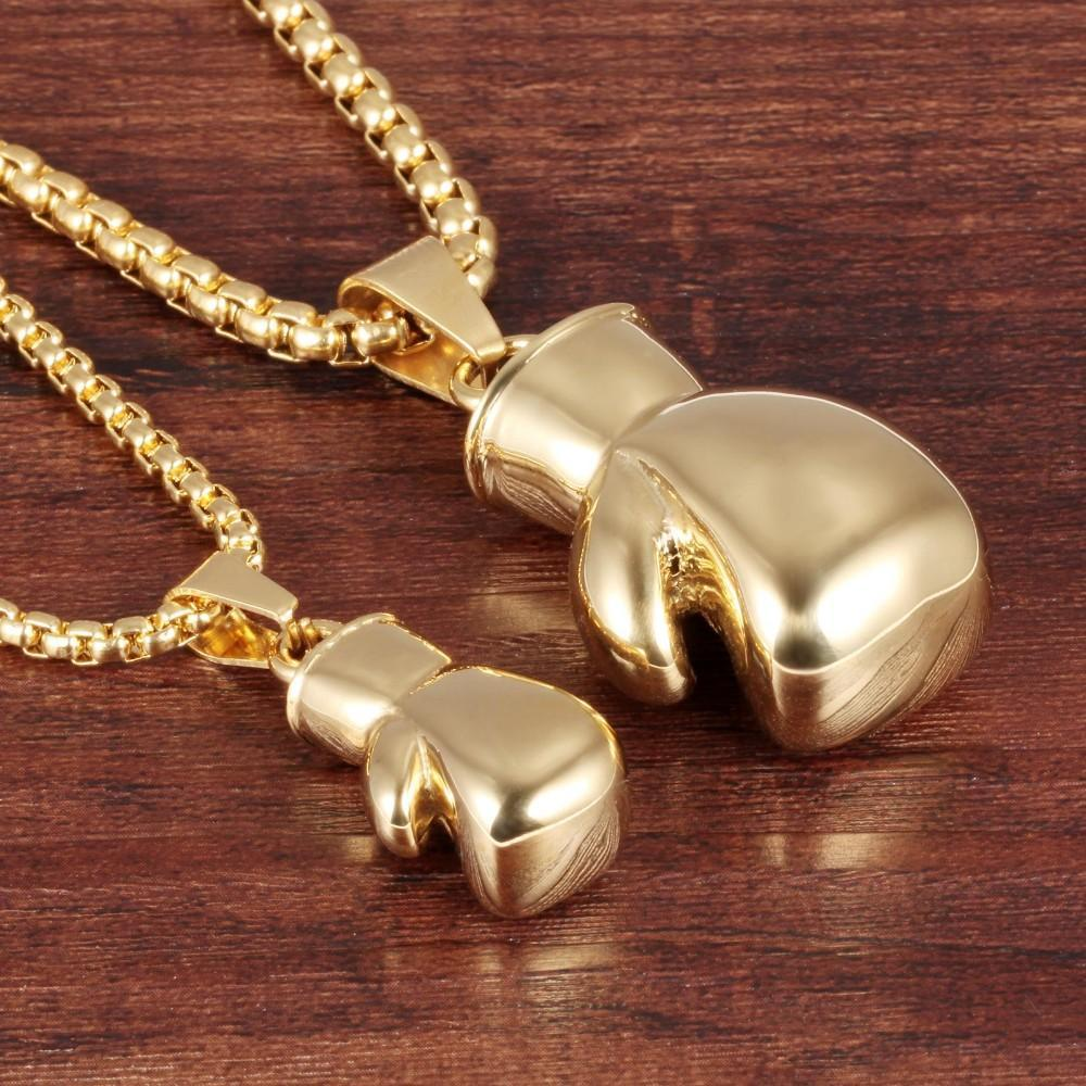 Couple Biker Boxing Gloves Necklace - LoveLuve