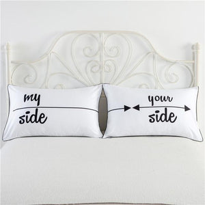 One Pair New Love Style Pillowcase For Lovers