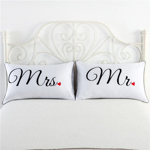 One Pair New Love Style Pillowcase For Lovers - LoveLuve