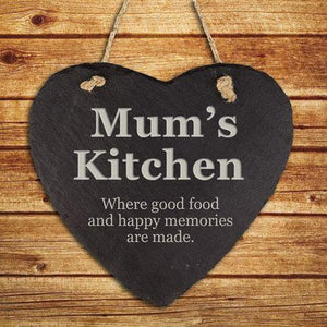 Personalised Mums Kitchen Hanging Slate Keepsake - LoveLuve