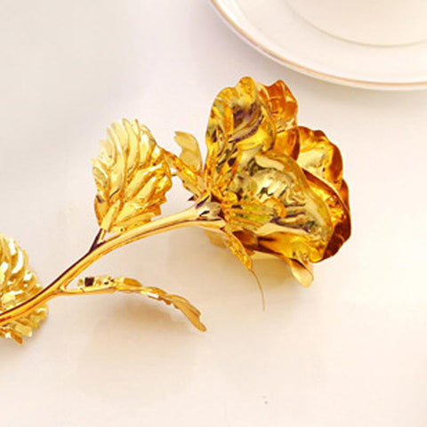 Image of Gold Rose 24K Gold Foil FLOWER - LoveLuve