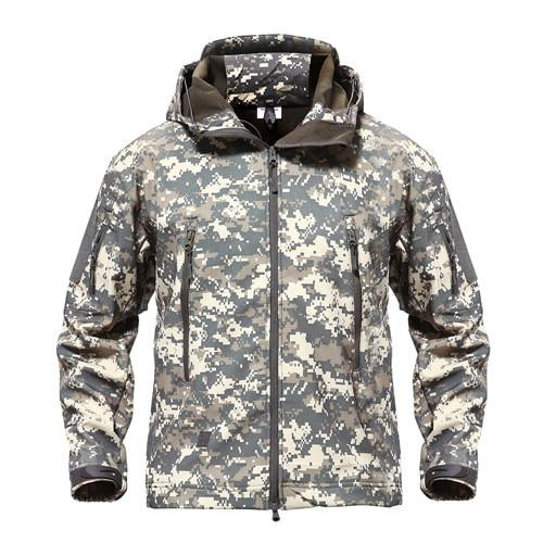 Shark Skin Military Softshell Waterpoof Tactical Camouflage Army Hoody Jacket