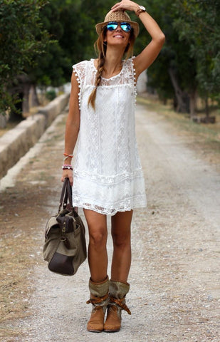 Image of Casual Beach Short Summer Dress - LoveLuve