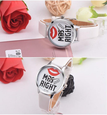 Image of Mr. Right & Mrs. Right Casual Quartz Couple Watches