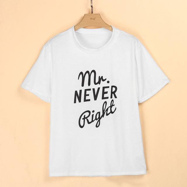 Mrs. Always Right & Mr. Never Right Funny Couple Matching T Shirt - LoveLuve