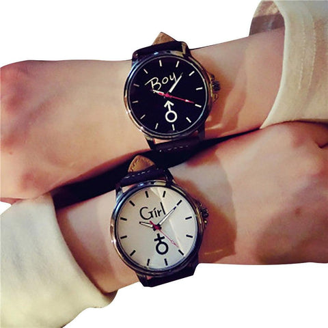 Image of Simple Stylish Couple Luxury Watch