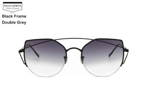 Image of Cat Eye Metal Original Women Sunglasses - LoveLuve