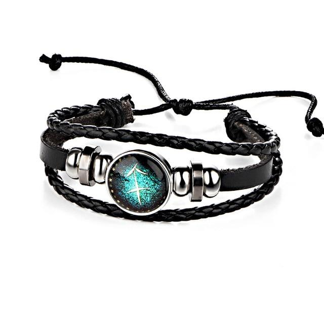 Constellations Leather Zodiac Sign Bracelets - LoveLuve