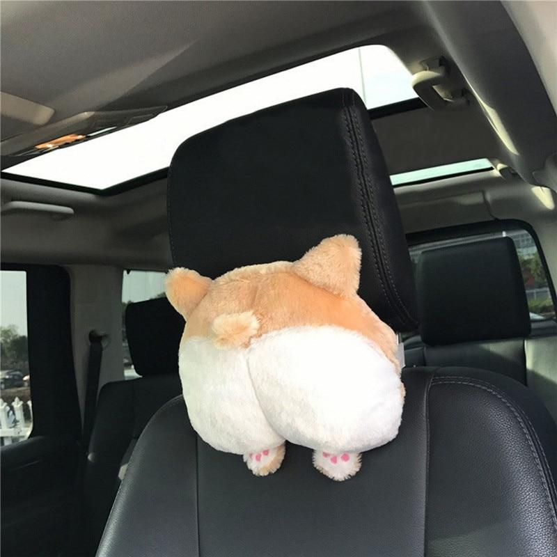 Cute Puppy Corgi Bottom Car Seat Neck Pillow