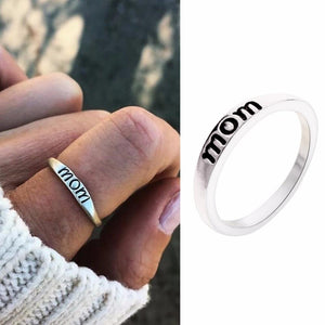 Vintage Silver Ring Heart Crown Selfless Mom Rings for Women Clear CZ Silver Fashion Jewelry #259393