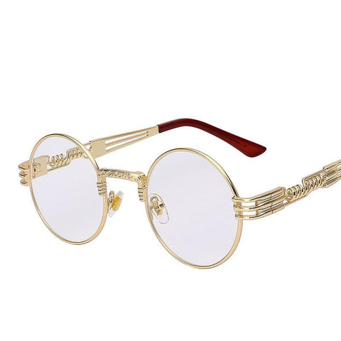 Image of Steampunk Round Shades Metal Wrap Women Sunglasses - LoveLuve