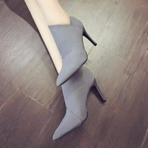 Pointed Toe Women Autumn Casual High Heels