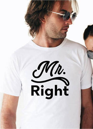 Mr and Mrs Always Right Just Married Honeymoon Couple Shirts