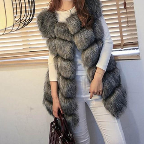 Image of High Quality Faux Fur Warm Women Winter Coats - LoveLuve