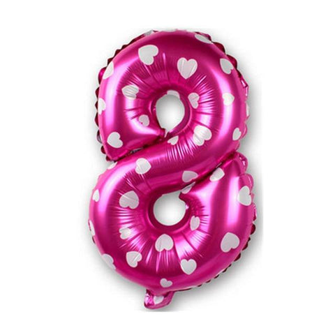 Image of 16 inch Figure Number Foil Balloons For Decoration - LoveLuve