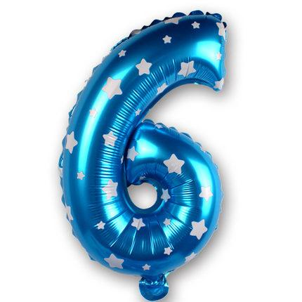 16 inch Figure Number Foil Balloons For Decoration - LoveLuve