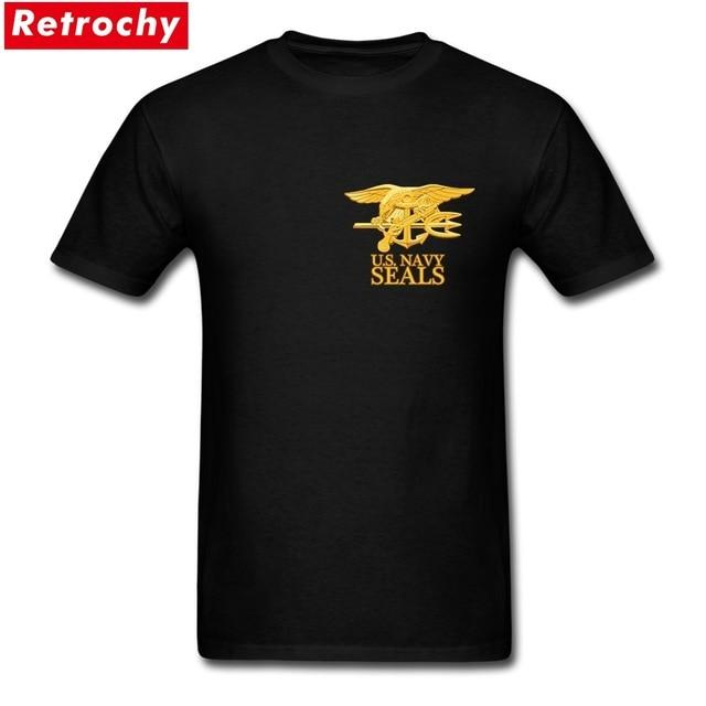 USA Army Navy SEALS T Shirts Men's 100% Cotton Plus Size T-Shirts Men Proud Veteran Tee Shirt Short Sleeve XS-3XL