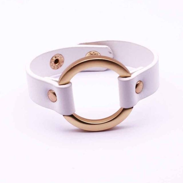 Simple All-Match OL V Word Wide Women Bracelet - LoveLuve