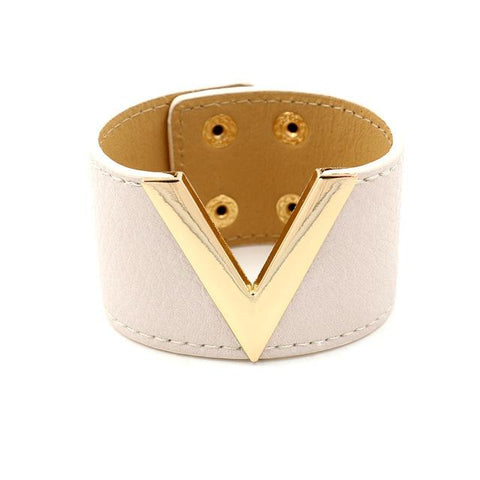 Image of Simple All-Match OL V Word Wide Women Bracelet - LoveLuve
