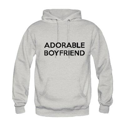 Image of I HAVE AN ADORABLE BOYFRIEND/GIRLFRIEND Fashion Couple Matching Hoodies Letter Printed Cotton Sweatshirts Pullover Size S-3XL - LoveLuve