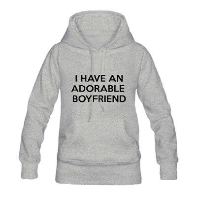 I HAVE AN ADORABLE BOYFRIEND/GIRLFRIEND Fashion Couple Matching Hoodies Letter Printed Cotton Sweatshirts Pullover Size S-3XL - LoveLuve