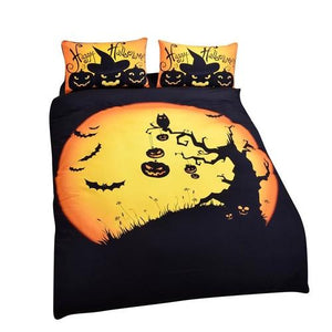 Happy Halloween Tree Kids Bedding Set Bat Pumpkin - LoveLuve