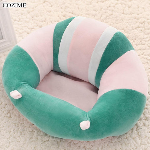 COZIME Infant Baby Sofa Support Seat Soft Cotton Safety Cotton Travel Car Seat Pillow Plush Legs A Chair for Babies Feeding - LoveLuve