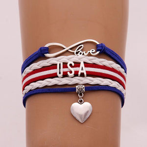 American National Independence Day Flag Bracelet - LoveLuve