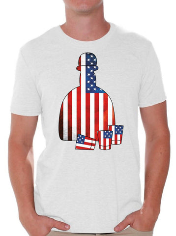 Fourth of July Tequila Funny Men's T Shirts Tops - LoveLuve