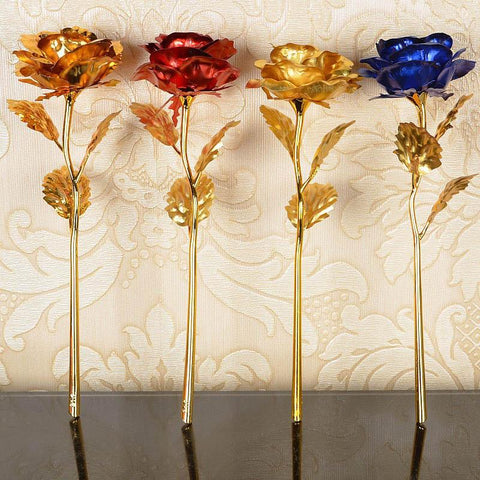 Image of 1 pcs Gold Foil Plated Rose Wedding Decoration Flower Valentine's Day Gift  artificial flower Wife and Mommy Birthday Gifts - LoveLuve
