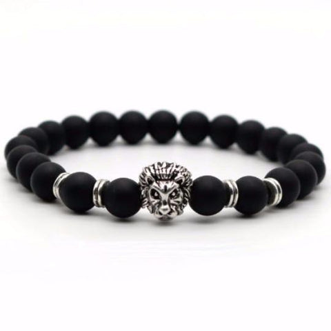 Image of Matte Stone Lion Men's Bracelet - LoveLuve