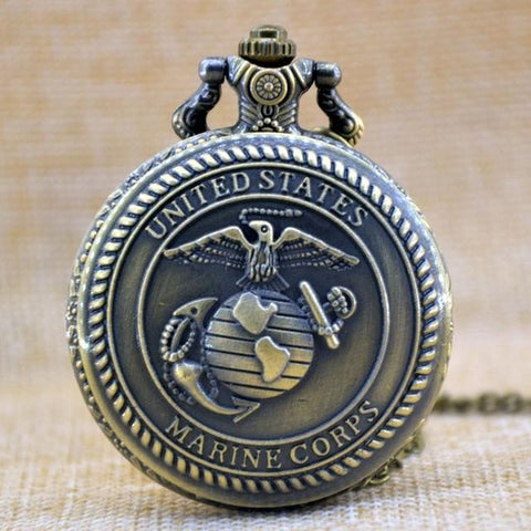 Image of Never Forget  Brave Soldier Quartz Pocket Watch - LoveLuve