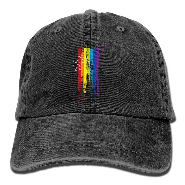 SAMCUSTOM lgbt 3D Creative personality Washed Denim Hats Autumn Summer Men Women Golf Sunblock Hockey Caps