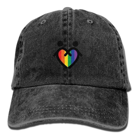 Image of SAMCUSTOM lgbt 3D Creative personality Washed Denim Hats Autumn Summer Men Women Golf Sunblock Hockey Caps