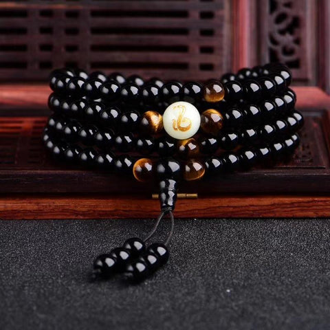 Image of Luminous Dragon Zodiac Mala Bracelet - LoveLuve