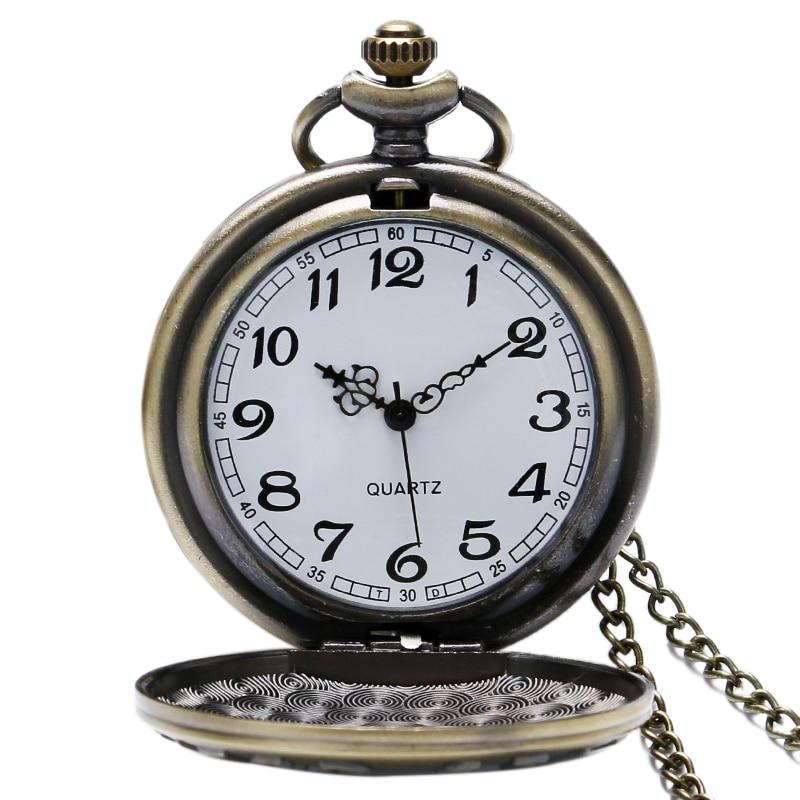 "Remember The History ""United States Veteran"" Bronze Pocket Watch With Necklace Chain - LoveLuve"