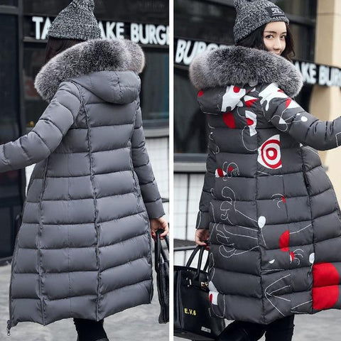 Image of With Fur Hooded Woman Winter Jacket - LoveLuve