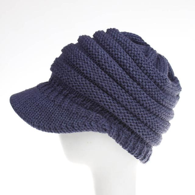 Ponytail Winter Warm Knit Cap - LoveLuve