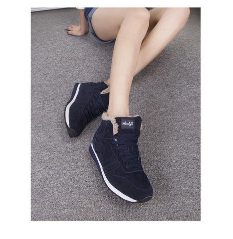 Image of Winter Fashion Warm Ankle Women Snow Boots