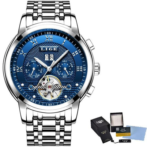 Image of Luxury Automatic Mechanical Full Steel Waterproof Sport Watch