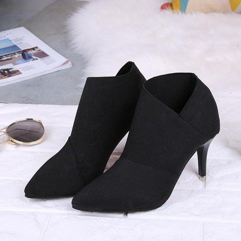 Image of Pointed Toe Women Autumn Casual High Heels - LoveLuve