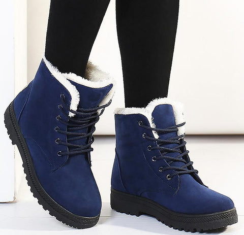 Image of Classic Heels Suede Warm Fur Women Winter Boots - LoveLuve