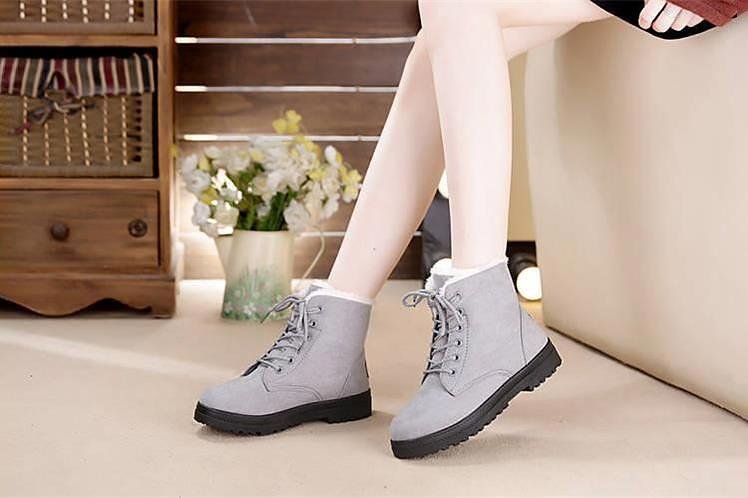Classic Heels Suede Warm Fur Women Winter Boots - LoveLuve