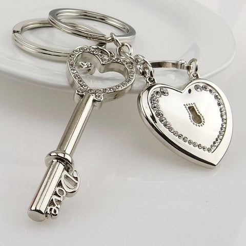 "Image of 2 Pcs/Set Puzzle Letter ""You're My Person"" Couple Keychain Lovers BBF Key Chain Holder Love Heart Best Friends Gift Dropshipping"